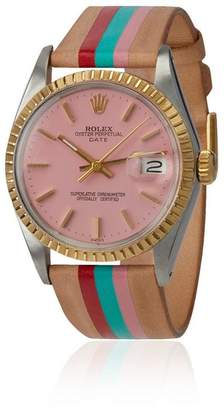 Rolex La Californienne Flamingo Cruz Oyster Perpetual Date Two-tone Watch 34mm