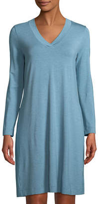 Hanro Champagne Long-Sleeve Nightgown