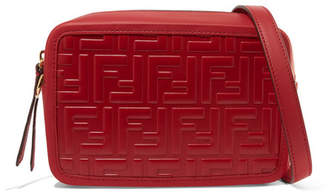 Fendi Embossed Leather Camera Bag - Red