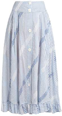 Thierry Colson Romane stripe-print cotton-voile skirt
