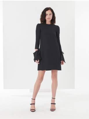 Oscar de la Renta Wool-Silk Crepe Dress