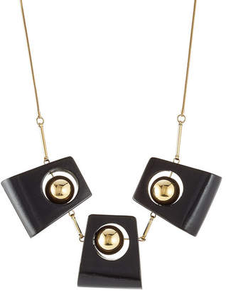Marni Statement Necklace with Wood
