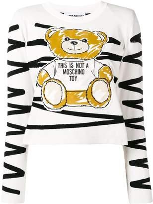Moschino scribble teddy appliqué top
