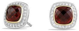 David Yurman Albion Stud Earrings with Diamonds and 18k Gold