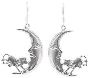 "Novica Artisan Crafted Sterling ""Moon Jump"" Earrings"