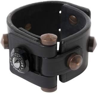 Lanvin Black Leather Bracelets
