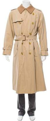 Burberry Double-Breasted Wool Lined Trench Coat