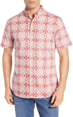Reyn Spooner Tailored Fit Christmas Quilt Sport Shirt