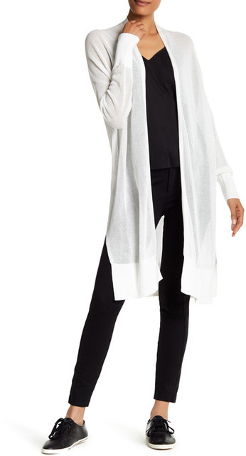 DKNY DKNY Long Sleeve Open Front Mesh Cardigan