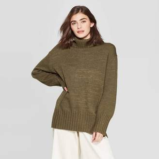 A New Day Women's Dolman Sleeve Turtleneck Tunic Sweater