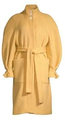 Stine Goya Celeste Wool-Blend Balloon Sleeve Coat