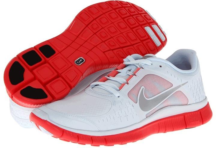 Nike Free Run+ 3 Shield (Blue Tint/Bright Crimson/Reflective Silver) - Footwear