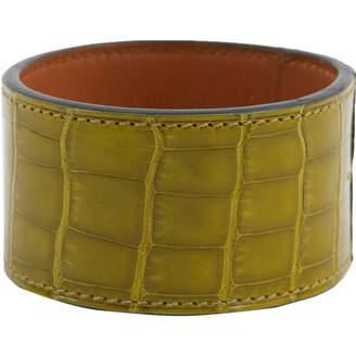 Hermes Green Crocodile Bracelets