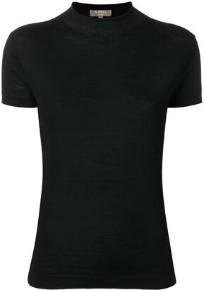 N.Peal mock neck fine knit top