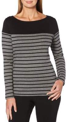 Rafaella Striped Long Sleeve Tee