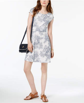 Tommy Hilfiger Paisley-Print Cap-Sleeve Dress, Created for Macy's
