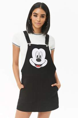 Forever 21 Mickey Mouse Overall Dress