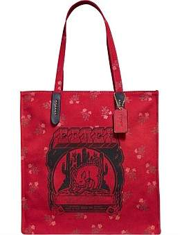 Coach Lunar New Year Tote With Pig Motif