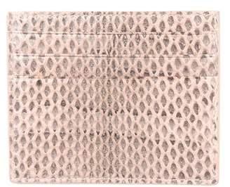Bottega Veneta Water Snakeskin Card Holder