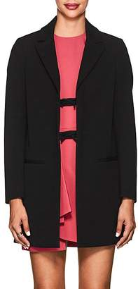 RED Valentino WOMEN'S WOOL-COTTON TWILL TOPCOAT