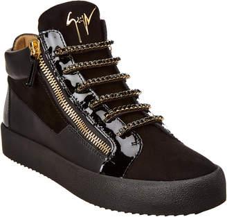 Giuseppe Zanotti Kriss Sparkle Leather Sneaker