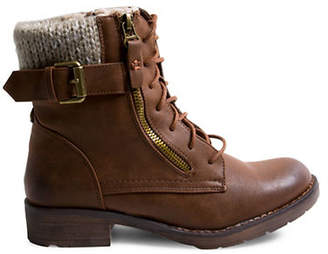 Madden-Girl Fargo Combat Ankle Boots
