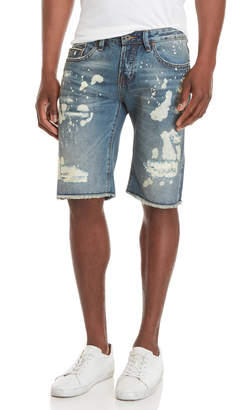 Cult of Individuality Rebel Bleached Denim Shorts