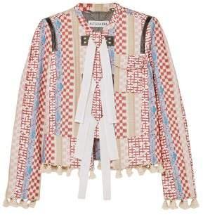 Altuzarra Tasseled Leather-Trimmed Jacquard Jacket