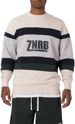 Zanerobe Transport Rugger Colorblock Stripe Sweatshirt