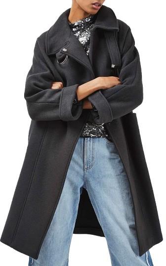 TopshopWomen's Topshop Wool Blend Coat