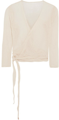 Caravana - Lahun Cotton-gauze Wrap Top - Off-white