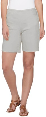 """Denim & Co. How Timeless"""" Stretch Pull-on Shorts w/Front Pockets"""
