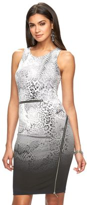 Women's Jennifer Lopez Zipper Sheath Dress $70 thestylecure.com
