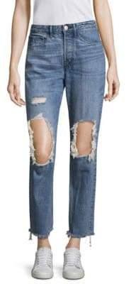 3x1 Higher Ground Distressed Straight Leg Jeans