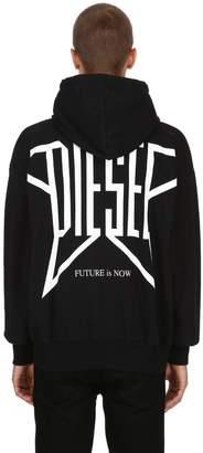 Diesel Zip-Up Cotton Jersey Sweatshirt Hoodie