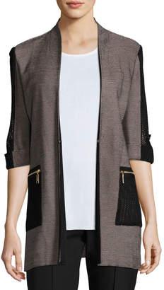 Misook Woven Jacket with Zip Pockets, Petite