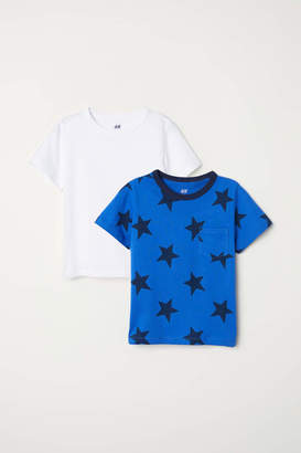 H&M 2-pack T-shirts - Blue/stars - Kids