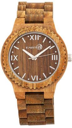 Earth Wood Bighorn Wood Bracelet Watch Olive 46Mm