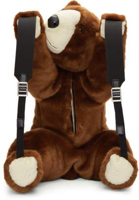Dolce & Gabbana Brown Eco Fur Teddy Bear Backpack