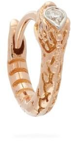 Maria Tash Ouroboros Diamond & 18kt Rose Gold Single Earring - Womens - Rose Gold