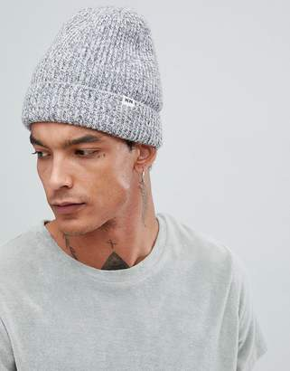 Wood Wood Henry ribbed beanie in gray