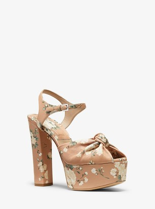 Michael Kors Zoey Floral Nappa Leather Sandal