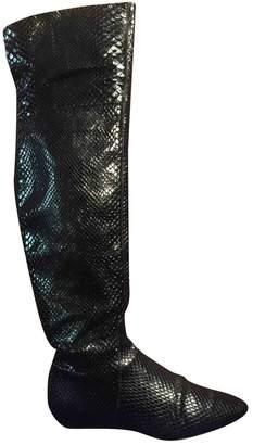Giorgio Armani Black Leather Boots