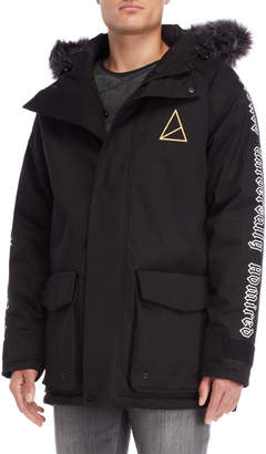 Golden Equation Black Faux Fur Hooded Parka