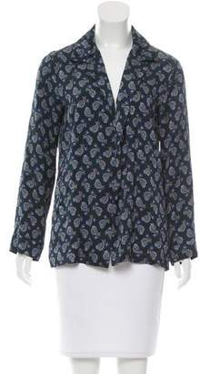 Etro Paisley Print Open-Front Jacket