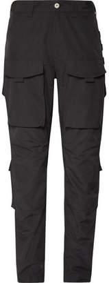 Junya Watanabe Grosgrain-Trimmed Tech-Jersey Cargo Trousers