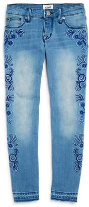 Hudson Girls' Embroidered Alexa Skinny Jeans, Big Kid - 100% Exclusive