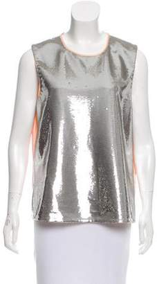 Diane von Furstenberg Sequined Sleeveless Top w/ Tags