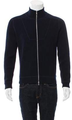 Dries Van Noten Woven Zip-Up Sweater