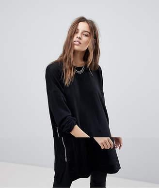 Noisy May Longline Zip Sweatshirt